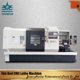 Maquinaria do torno do CNC da base lisa com balanço máximo de 200mm sobre a corrediça