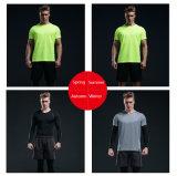 Custom Spandex llano seco Gimnasio Hombres camiseta compresiones conjuntos de ropa de Fitness para hombres