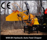 biotrituradora Th-8, PTO del tractor, certificado CE impulsadas, dos de los rodillos de alimentación hidráulica