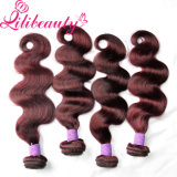 Tipos diferentes cabelo do Virgin do Crochet do Weave dos Peruvian de Borgonha