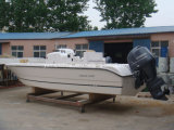 De Boot van de Snelheid van de glasvezel met Outboard