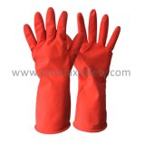 40g красный хлопка волокнистую водонепроницаемый долго домашнего хозяйства манжеты латексные перчатки лабораторной работы