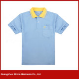 Collare del jacquard degli uomini personalizzati di alta qualità/camicia polo dei polsini (P180)