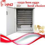 1232 huevos automático pequeño huevo de gallina incubadora