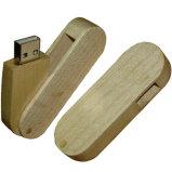 Qualität fertigen hölzernes USBhölzernes USB-Drucken-Firmenzeichen kundenspezifisch an