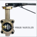 Alumínio Bronze Lugged Tipo Wafer Butterfly Valve