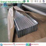 Folha de aço ondulada galvanizada laminada a alta temperatura da telhadura/folha telhadura do zinco/telhado de alumínio do metal