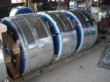 O zinco revestiu a tira de aço galvanizada