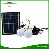 Sistema di illuminazione portatile di energia solare con un indicatore luminoso solare delle 2 lampadine del LED per la tenda di campeggio domestica