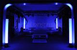 9X10W RGBW DMX Iluminação Sem fio alimentado por bateria