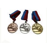 昇進のギフトの記念品のためのリボンが付いているOEM/ODMの金属メダル