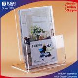 Support acrylique de bureau de présentoir de support de brochure de fournisseurs dignes de confiance