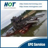 Alta eficiencia y ampliamente utilizado equipos de minería de cangilones para la Minería de Oro de la rastra