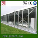 Tienda de aluminio impermeable grande del partido del marco con el flanco de cristal