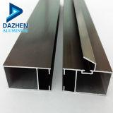 Perfil de aluminio color bronce guarnecido de la ventana triangular en el mercado de Tanzania tubo de aluminio 30 X 30