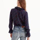 긴 소매 뻗기 완벽한 Bodysuit 줄무늬 셔츠