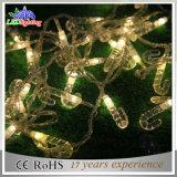 Zeichenkette-Lichter des Feiertags-helle Weihnachtsdekoration-warme Weiß-LED