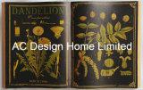 قديم علم نبات [بو] [لثر/مدف] خشبيّة كتاب شكل جدار فنية