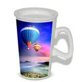 La sublimación alta de las tazas de café de la taza de la nueva del espacio en blanco D maneta de cerámica de la dimensión de una variable asalta al por mayor