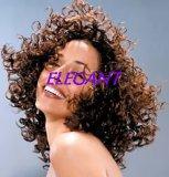 Парик человеческих волос среднего размера курчавый для женщины