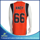 Custom Made e Sublimation Printing Basketball Shirt