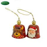 Klok van Kerstmis van de Klok van Kerstmis van de Decoratie van Polyresin de Rode Kleine
