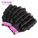 Form-Süßigkeit-lockiges Jungfrau Remy Haar, das brasilianisches Haar spinnt