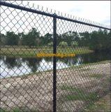 Valla de seguridad galvanizada del acoplamiento de alambre de la cerca de la INMERSIÓN caliente de la conexión de cadena