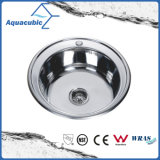 Redondo de aço inoxidável Moduled contador acima de cozinha pia (ACS4950)