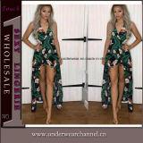 Form-Sommer druckte Strand-lang reizvolles Maxi Mädchen-Spielanzug-Kleid