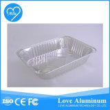 Empacotamento de alimento do recipiente do retângulo da folha de alumínio