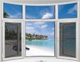 Finestra di alluminio personalizzata della stoffa per tendine di vetro Tempered del doppio di colore