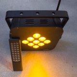 9X15W RGBWA этапе лампа LED PAR беспроводной DMX Управления