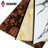 Ideabond PE PVDF Pre-Painted 돌 곡물 알루미늄 플라스틱 합성 위원회