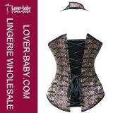 Stahlknochen-Bodysuit-gotisches reizvolles Korsett für Frau (L42650)
