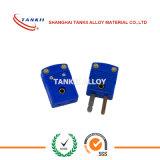 青いカラーのTankii Tのタイプ熱電対のプラグそしてコネクター