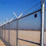 Rete fissa rivestita della rete metallica di obbligazione di collegamento Chain del PVC per l'aeroporto/campo da giuoco