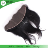 Шелковистая прямых волос человека свободной части 13X4 Швейцарской кружева фронтальной