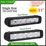 60W 11pouces Super Bright CREE LED Light Bar Offroad barre LED