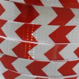 安全のための反射テープを示す2.5cm自己接着白くおよび赤いの矢