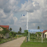 Steel Pole Calle Solar Iluminación LED