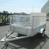 600mm Cageの熱いDipped Galvanized Box Tilt Trailer