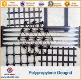 Plastikbodenvermörtelung-Polypropylen zweiachsiges Geogrid mit Plastikrasterfeldern