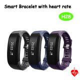 Moniteur de fréquence cardiaque Bluetooth Smart Bracelet en silicone avec écran OLED H28