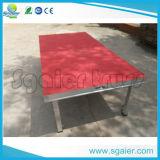 Алюминиевая портативная платформа этапа красного ковра этапа с по-разному высотой