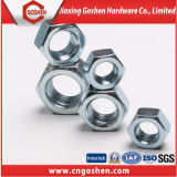 Noix Hex Hex galvanisée de la noix DIN934 DIN6915 d'acier du carbone
