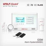 人間の特徴をもつIos APP 433MHzセンサーGSMのAPPの無線電信センサーが付いているホーム侵入者の警報システム