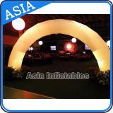 Arco gonfiabile di cerimonia nuziale con l'indicatore luminoso del LED per la cerimonia nuziale/partito/evento/supporto di arco gigante