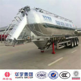 42cbm Aluminium Alloy Tanker Semi Trailer for Wheat Flour/Bulk Cement/Powder Material/Cement-Discharging with Pto