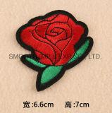 Coton en gros de connexion de broderie de vêtement de l'Applique 3D de fleur de Rose de mode